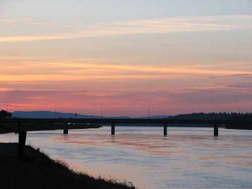Sunset at the Columbia River (2)